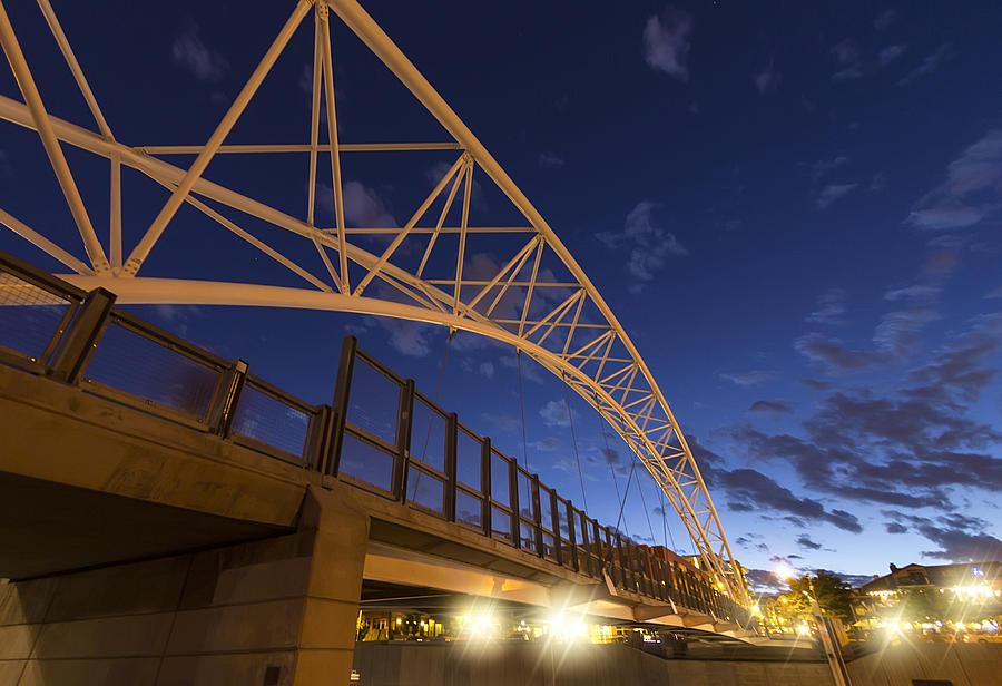 Bridge Photograph - Evening In Denver by Stellina Giannitsi