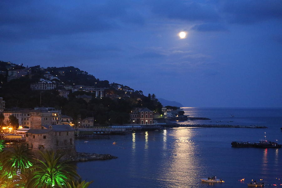 Landscape Photograph - Evening In Rapallo by Roberto Galli della Loggia