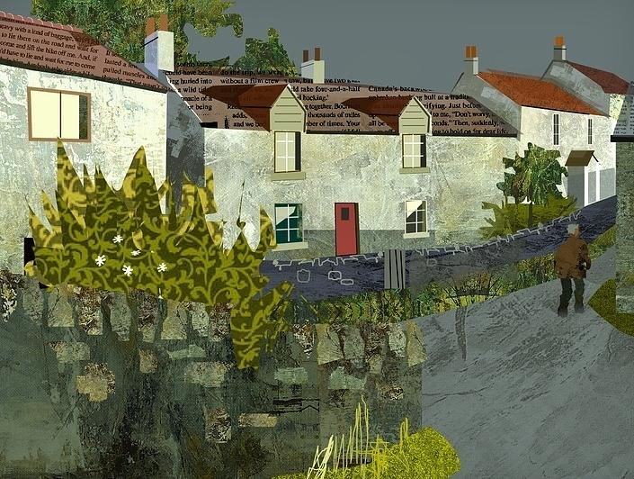 Village Life Painting - Evening In The Village. by Kenneth North