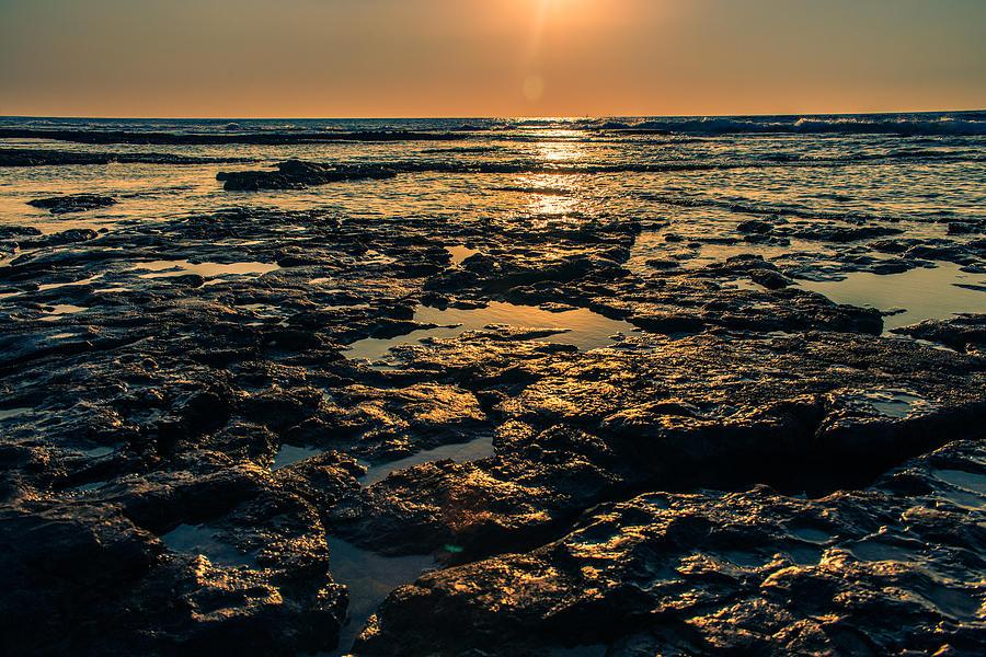 Sunrise Photograph - Evening light of sea by Michael Goyberg