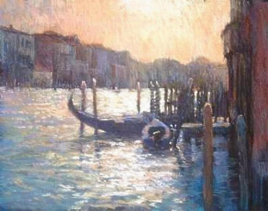 Venice Painting - Evening Light On The Grand Canal by Jackie Simmonds