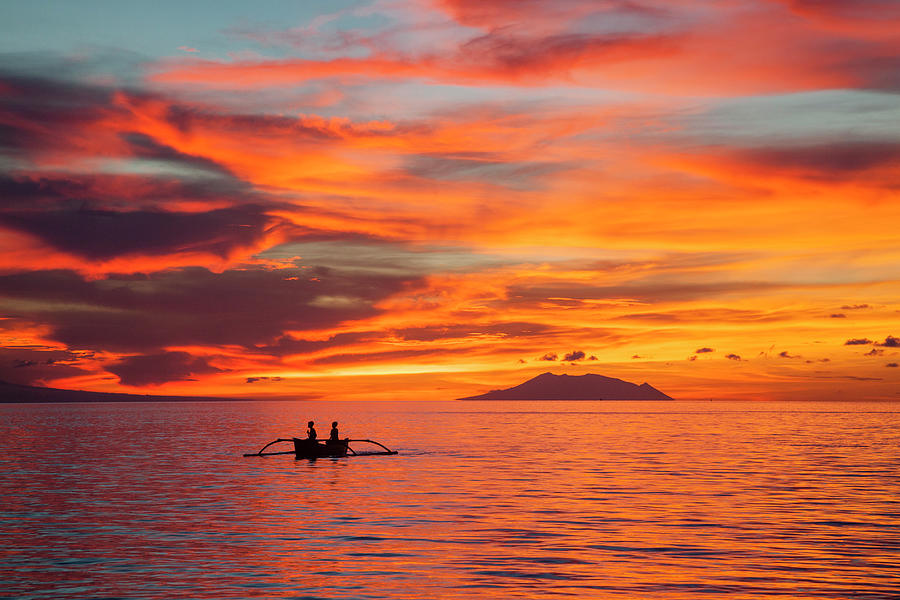 Evening Mood Over The Bali Sea Photograph by Manfred Gottschalk