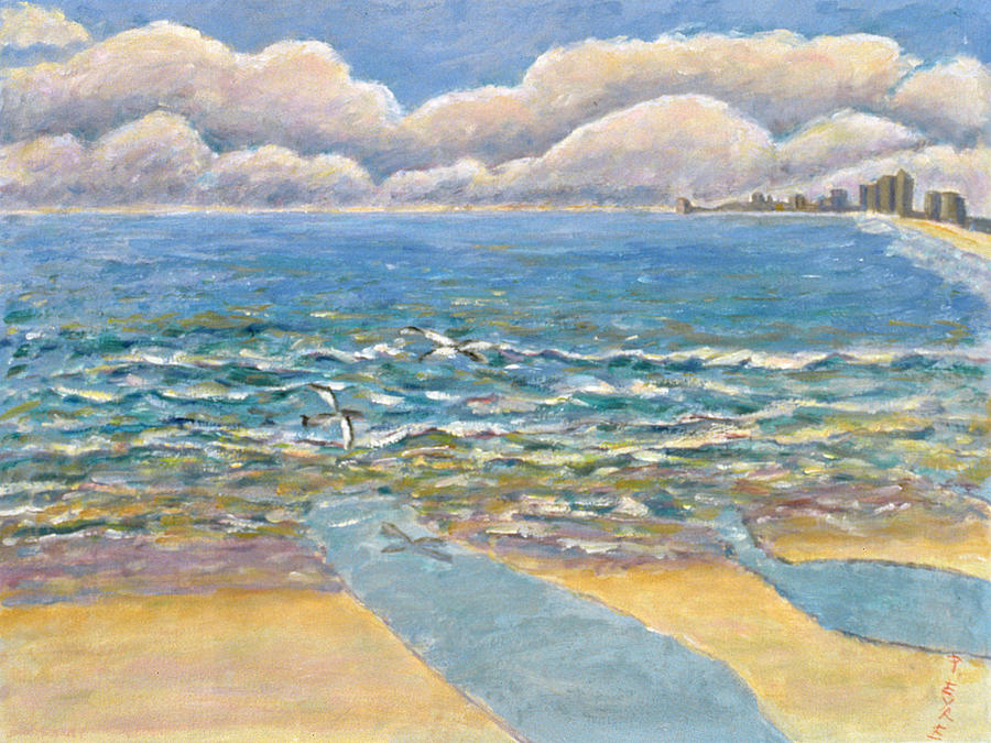 Sea Painting - Evening North Myrtle Beach by Patricia Eyre