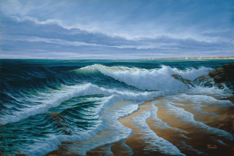 Evening on Monterey Bay by Del Malonee
