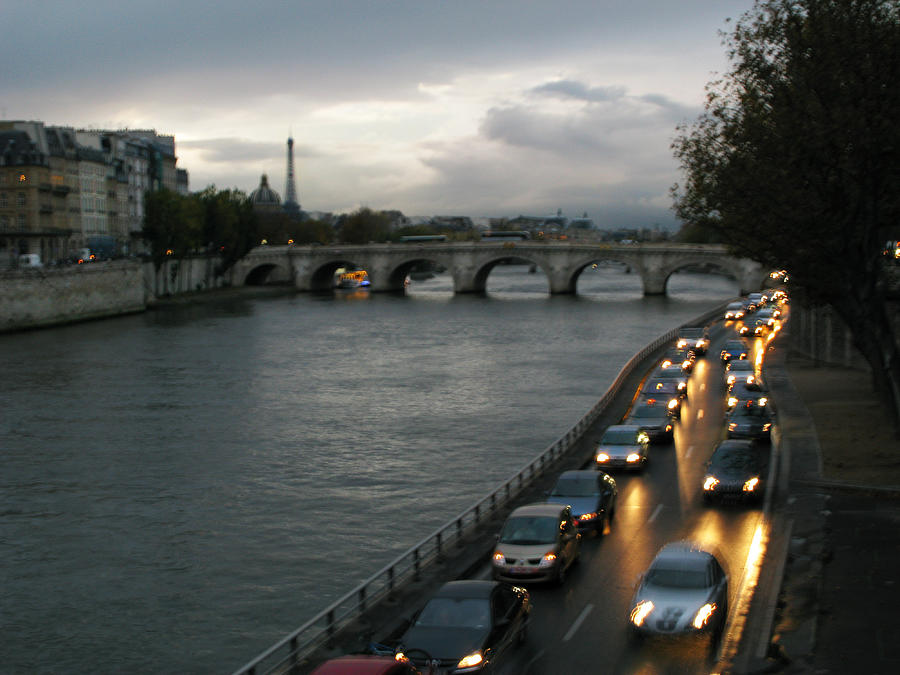 France Photograph - Evening On Pont Au Change  by Joe Schofield
