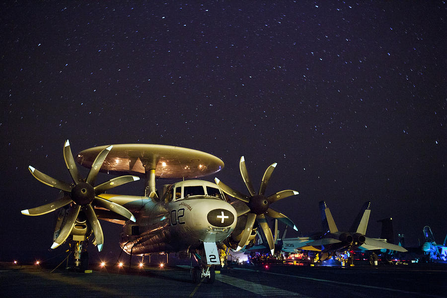 Jet Photograph - Evening On The Carrier by Mountain Dreams