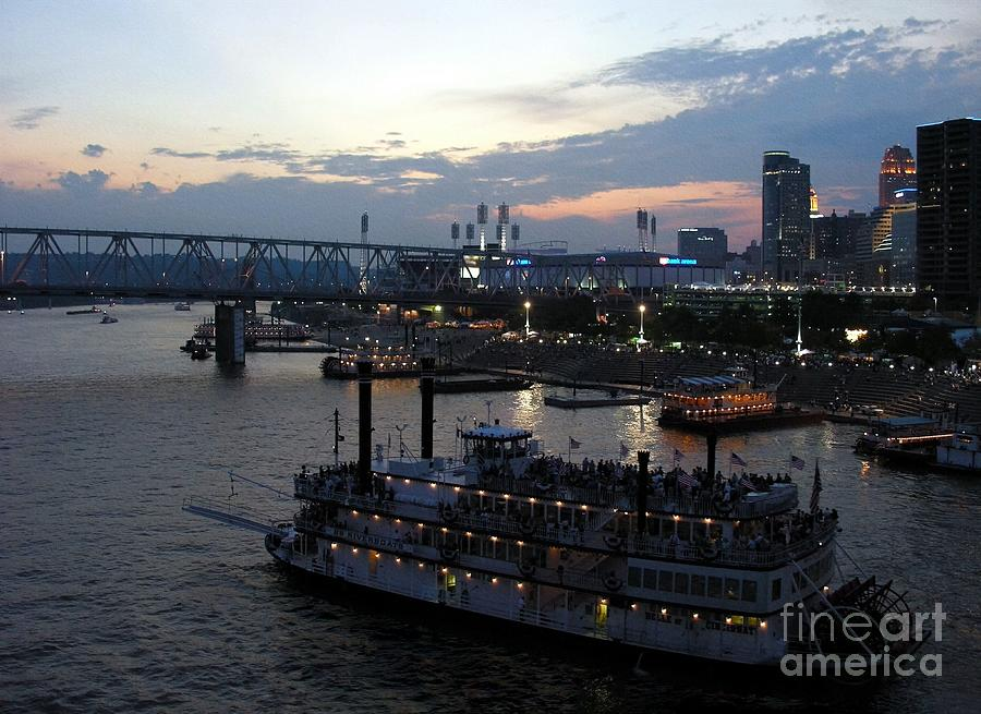 Ohio River Photograph - Evening On The River 2 by Mel Steinhauer
