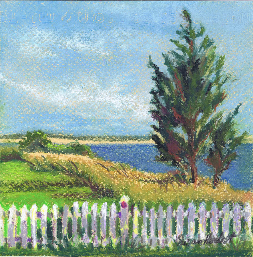 Landscape Painting - Evening Orient And Peconic Bay by Susan Herbst