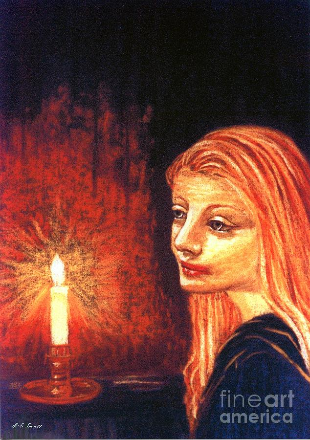 Candle Painting - Evening Prayer by Jane Small