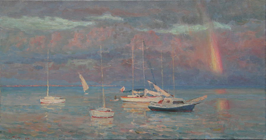 Evening Painting - Evening Rainbow by Korobkin Anatoly