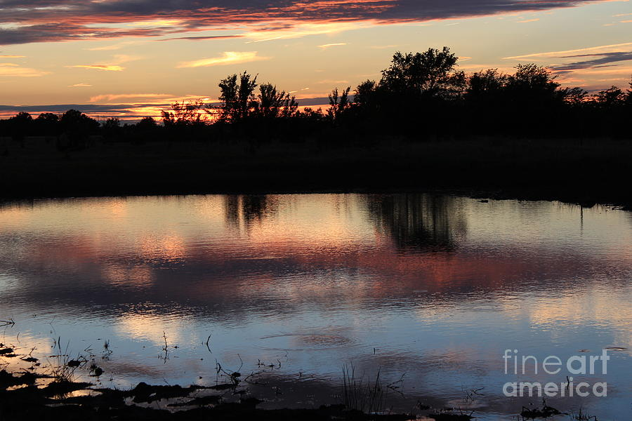 Sunset Photograph - Evening Reflection by Robert D  Brozek