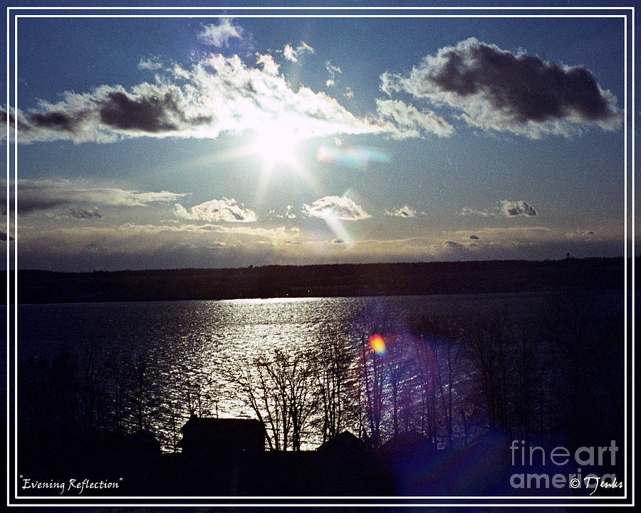Water Photograph - Evening Reflection by Theodore Jenks
