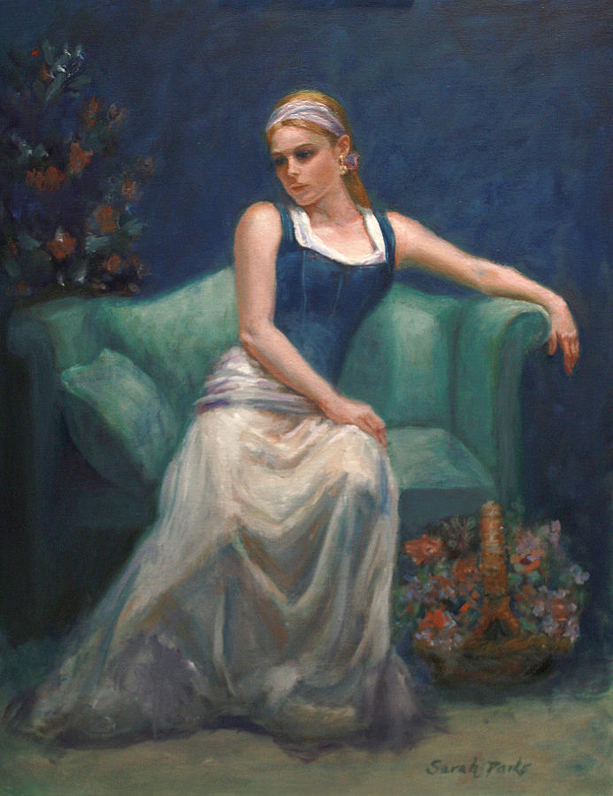 Beautiful Young Girl Painting - Evening Repose by Sarah Parks