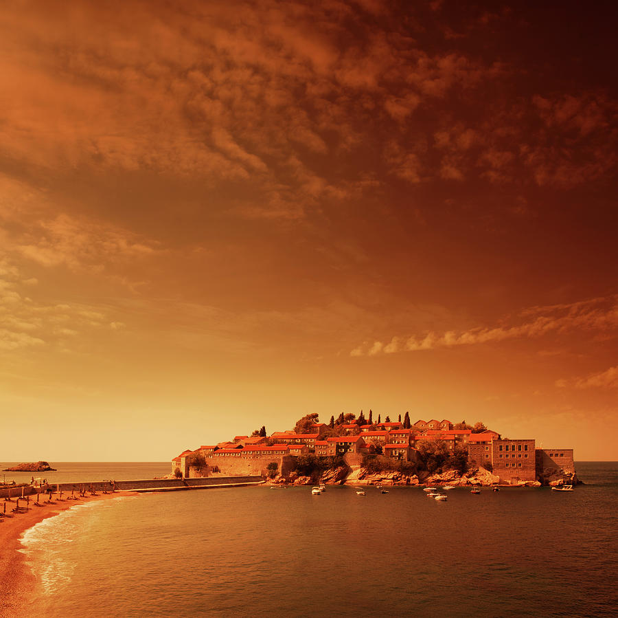 Evening Sea Landsape Photograph by O-che