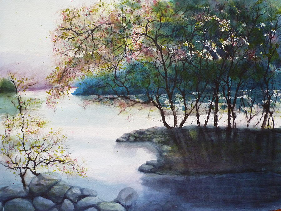 Landscape Painting - Evening Shadows by Judy Meng