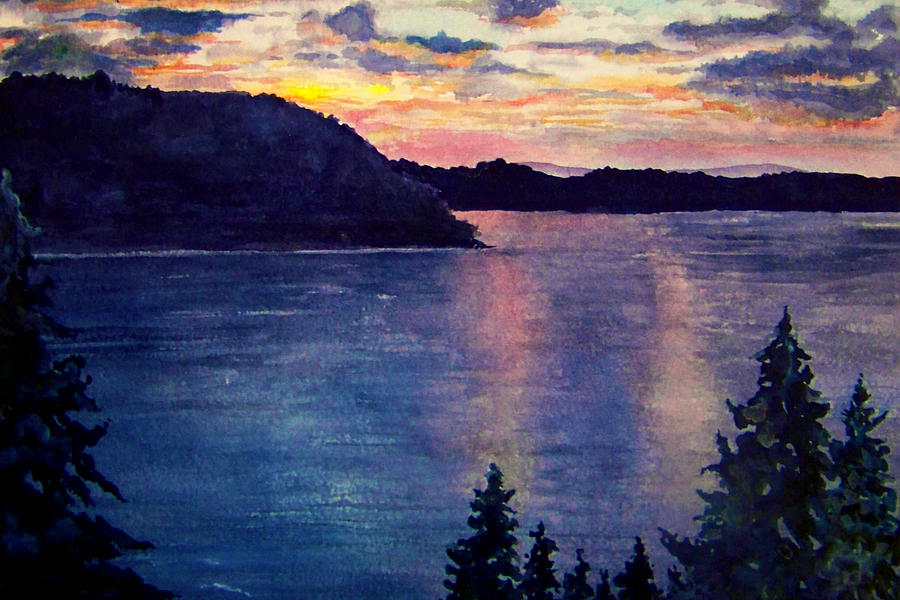 Sunset Painting - Evening Song by Brenda Owen