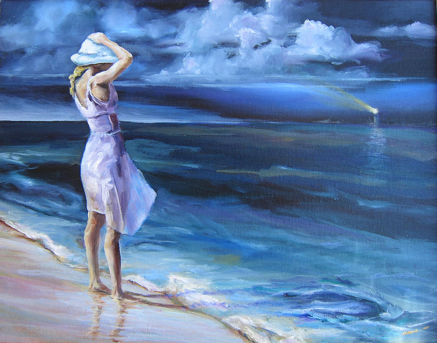 Beach Painting - Evening Song by Diane Kraudelt