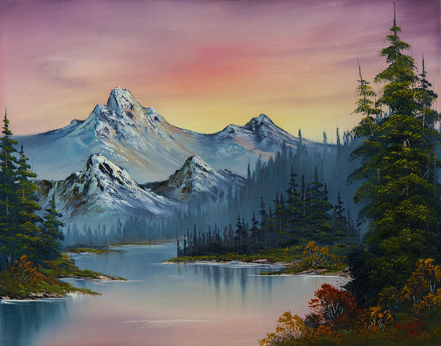 Landscape Painting - Evening Splendor by C Steele