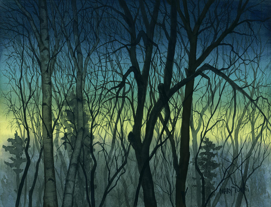Blue Painting - Evening Stand by Mary Tuomi