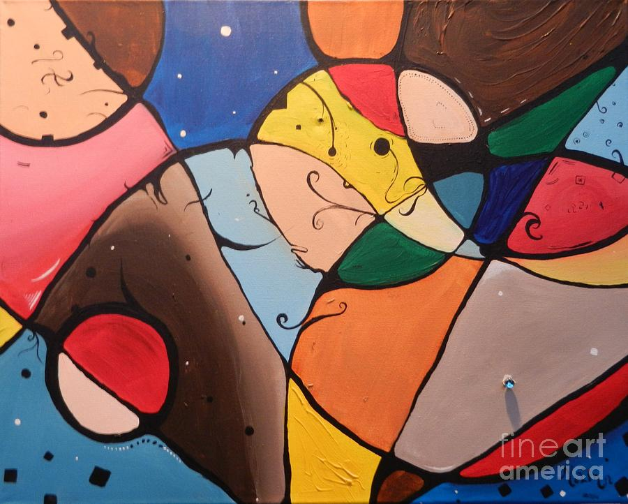 Abstract Painting - Evening Stars by Juan Molina