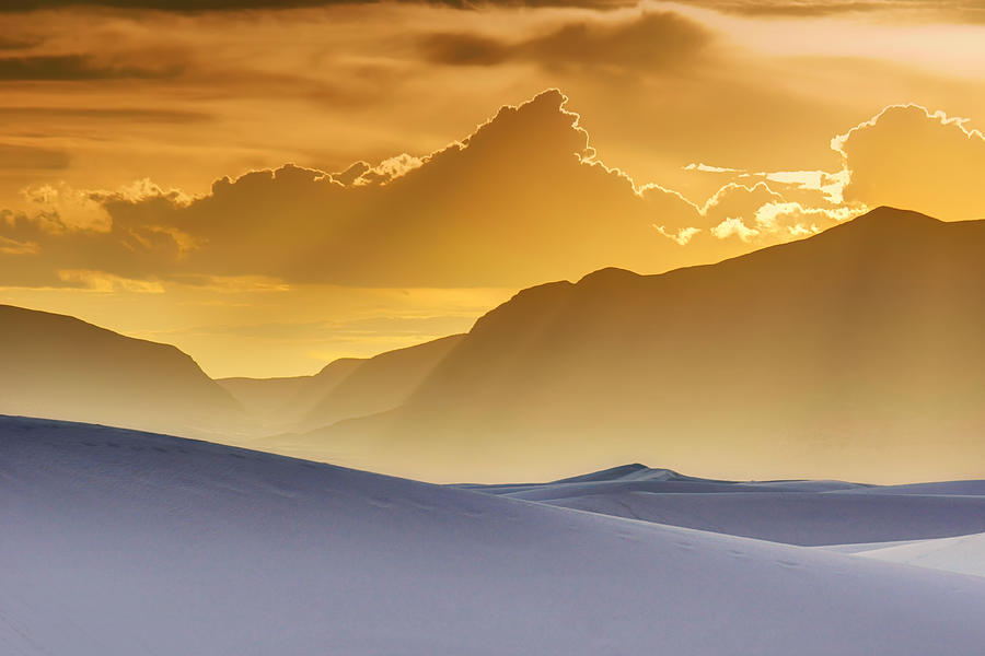 White Sands Photograph - Evening Stillness - White Sands Sunset by Nikolyn McDonald