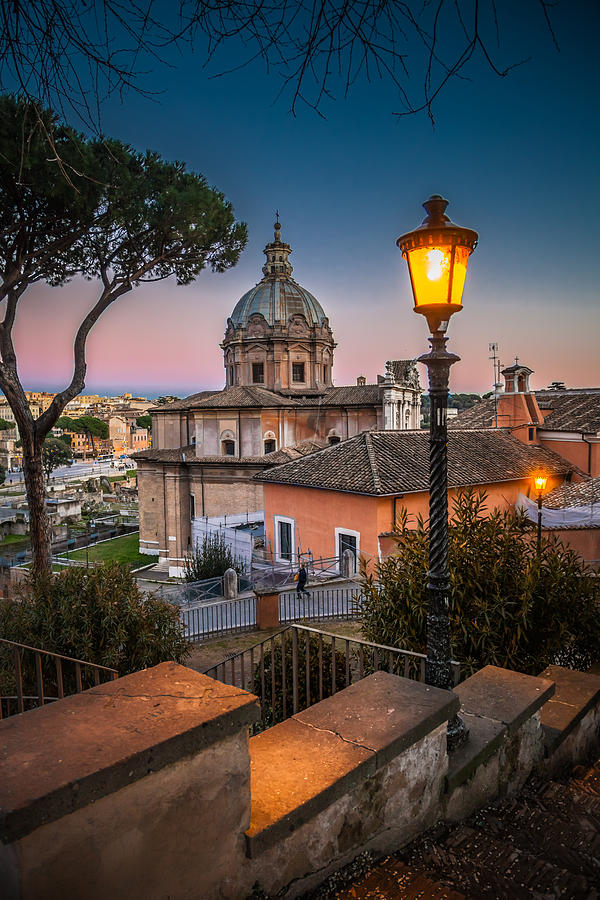 Ancient Photograph - Evening Stroll In Rome by W Chris Fooshee
