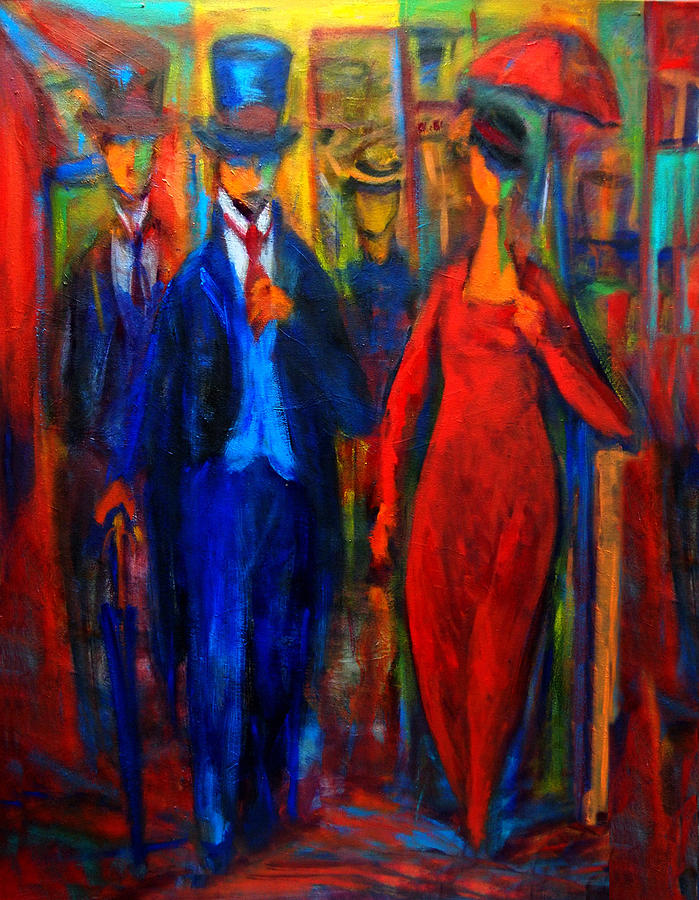 Walking Painting - Evening Stroll  by Marina R Burch