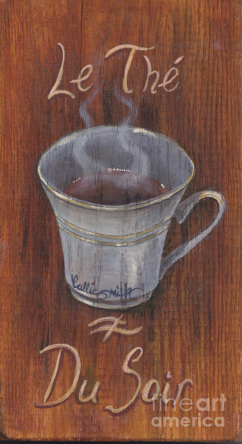 Teacup Painting - Evening Tea by Callie Smith