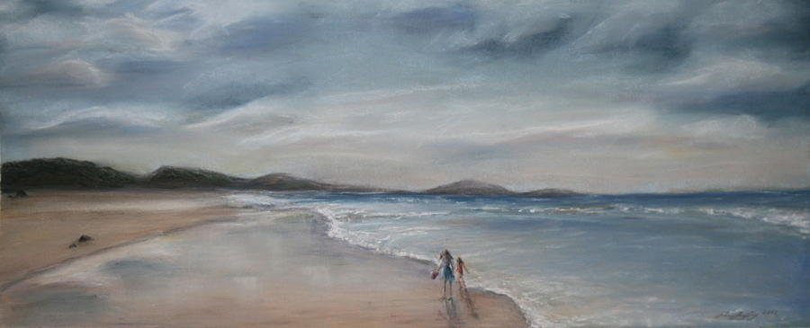 Beach Painting - Evening Tide by Rachael Curry