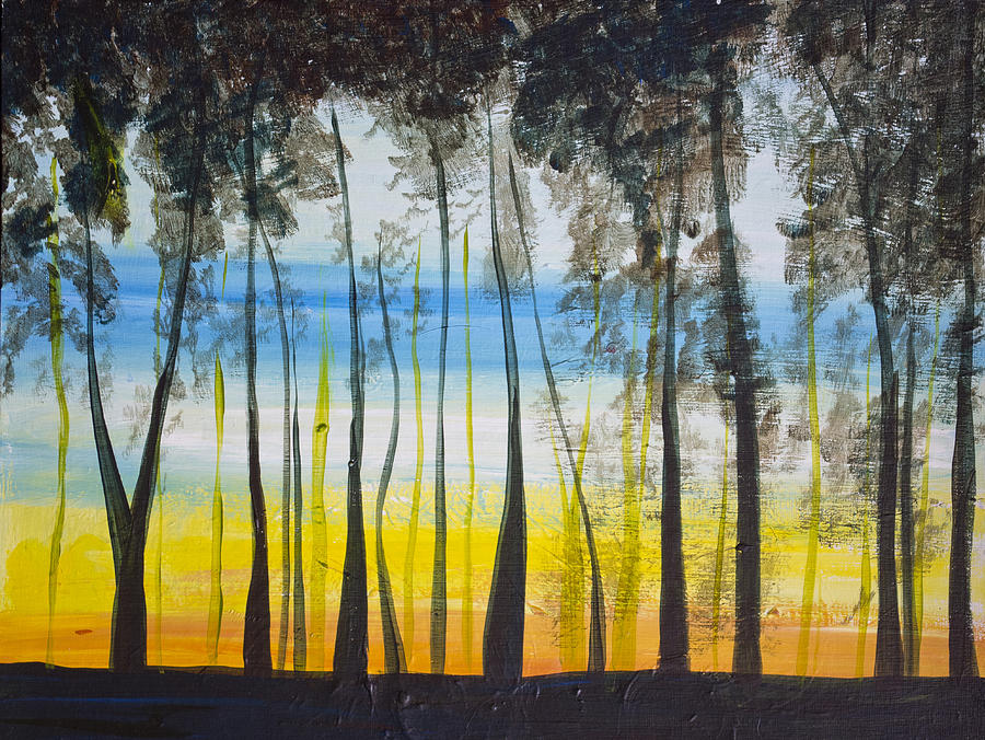 Evening Trees by Richard Fritz