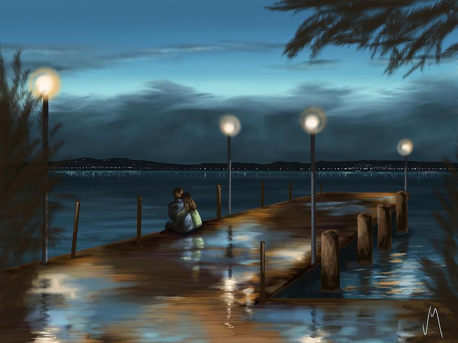 Rain Painting - Evening by Veronica Minozzi