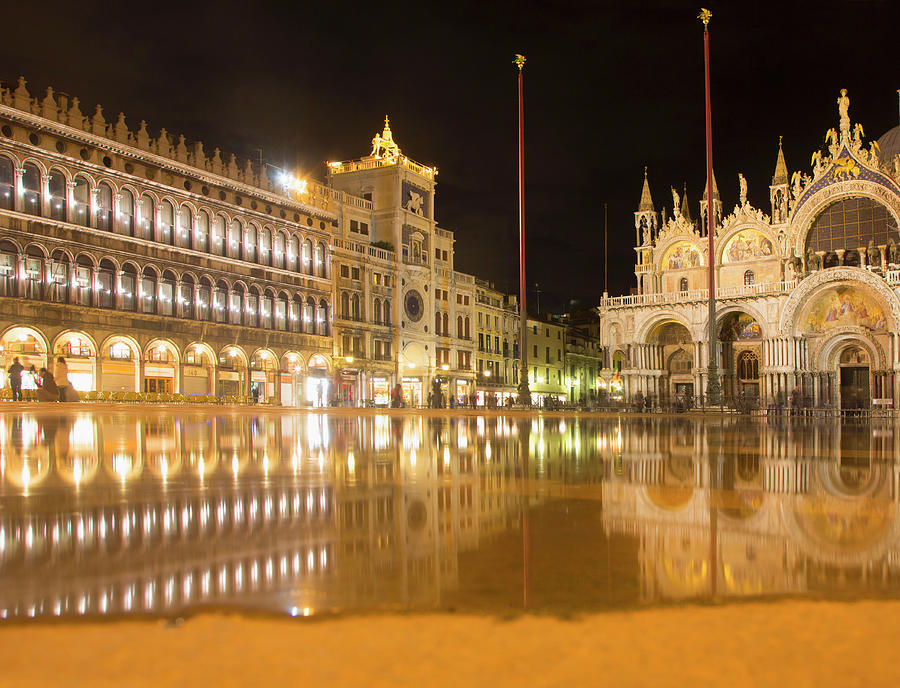 Evening View Of St Marks Square Photograph by Grant Faint