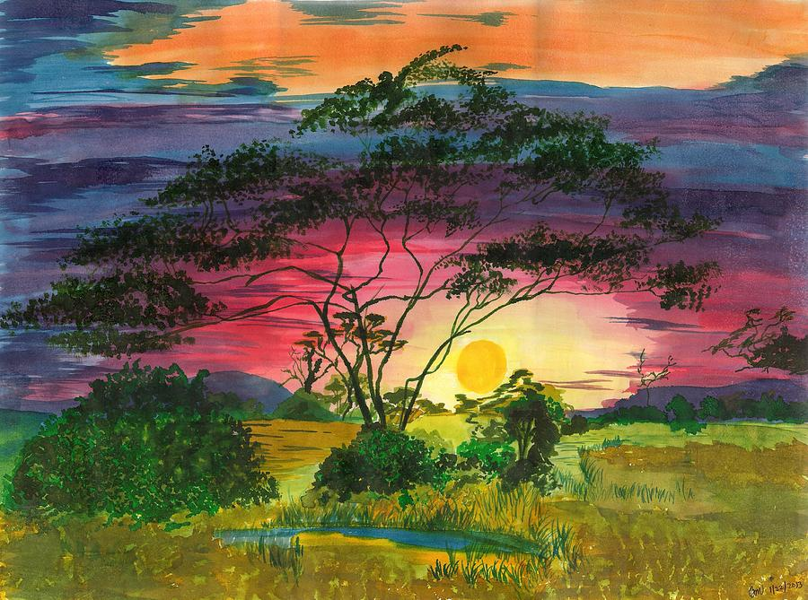 Landscape Painting - Evenings Bliss by Beverly Marshall