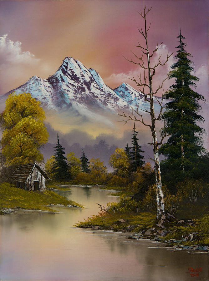 Landscape Painting - Evenings Delight by C Steele