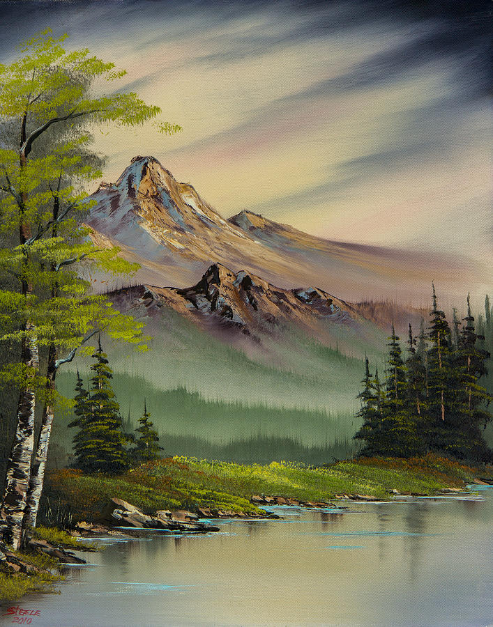 Landscape Painting - Evenings Peace by C Steele