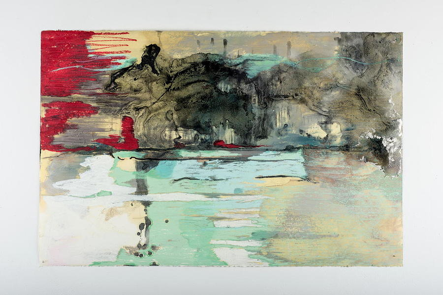 Landscape Mixed Media - The Storm Behind The Calm by Marie Tosto