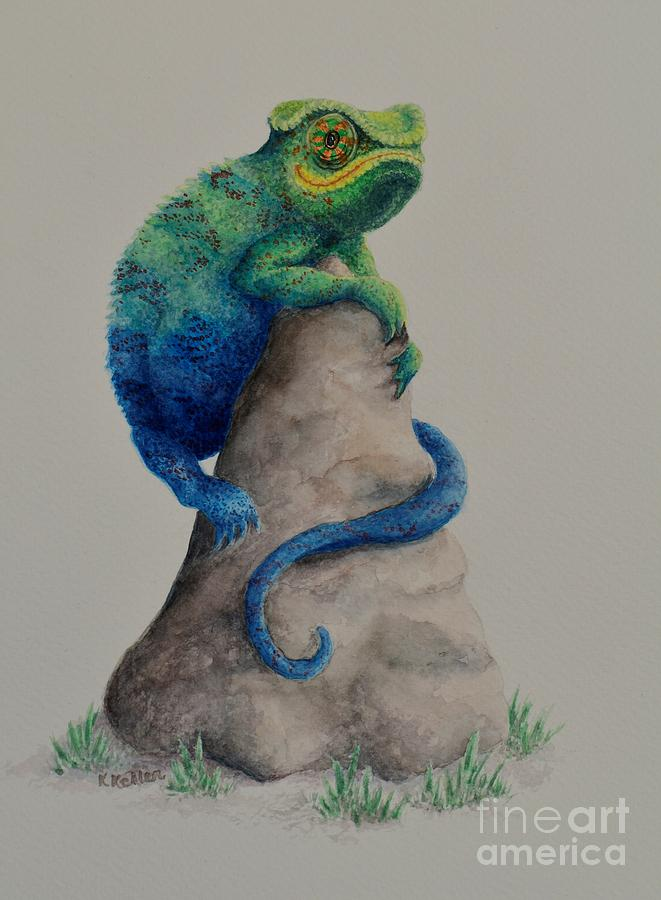 Chameleon Painting - Ever Changing by Kathleen Keller