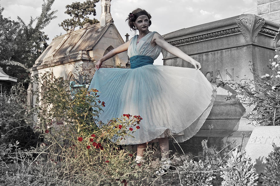 Alice In Wonderland Photograph - Ever Seen An Alice With A Blossom Like That by Tracy  Tanner