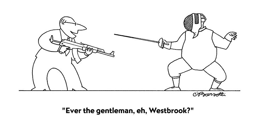 Ever The Gentleman Drawing by Charles Barsotti