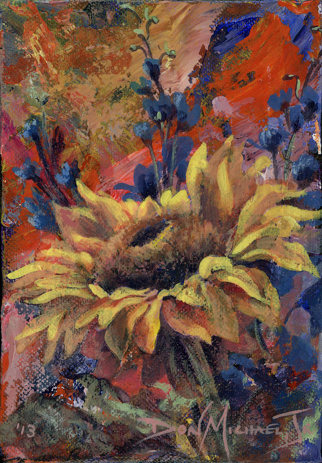 Sunflower Painting - Ever Upward by Don Michael Jr