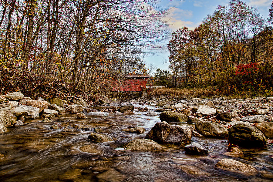 Cvnp Photograph - Everett Rd Covered Bridge by Jack R Perry