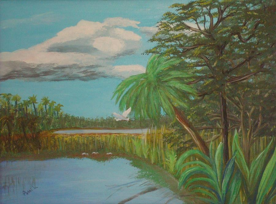 Everglades Marsh Painting by Patti Lauer