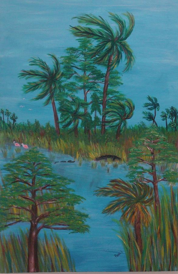 Water Painting - Everglades Water Hole by Patti Lauer
