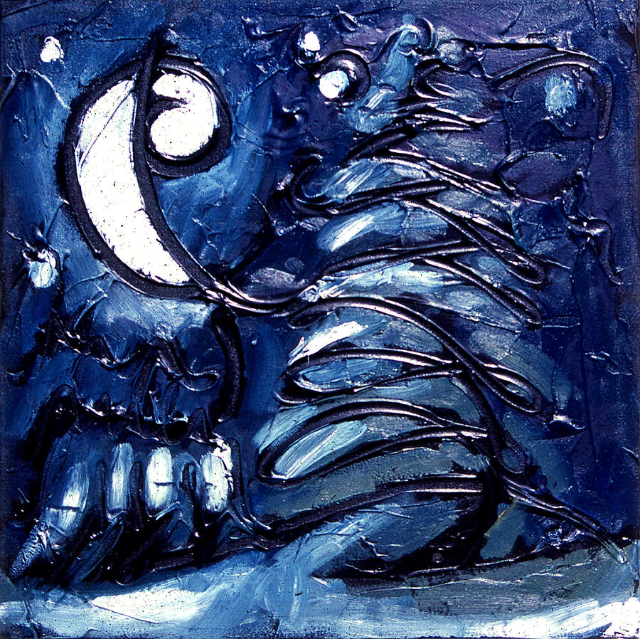 Snow Scape Painting - Evergreen by Moonlight by Ross Drago