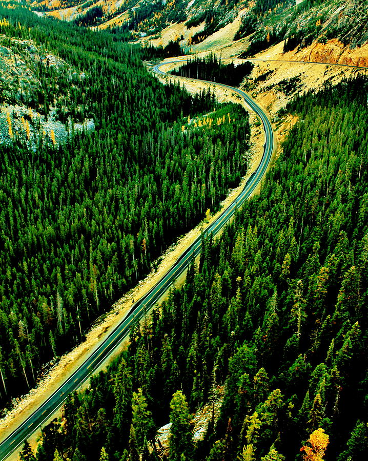 Cascades Photograph - Evergreen Highway by Benjamin Yeager