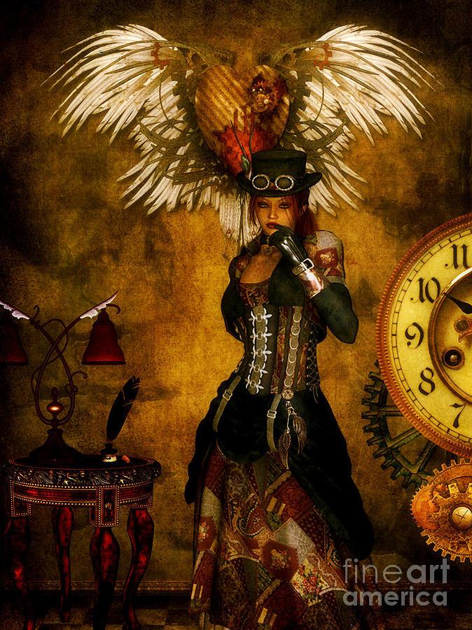 Steampunk Digital Art - Everlong by Putterhug  Studio