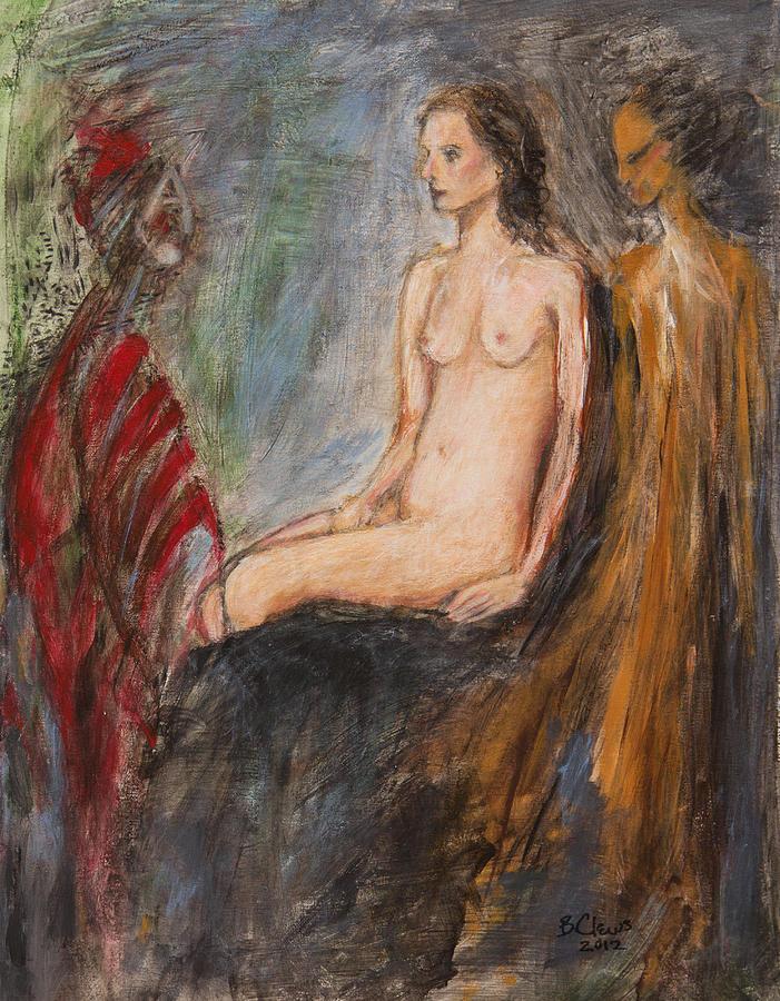 Figurative Painting - Every Angel Is Terror by Brenda Clews