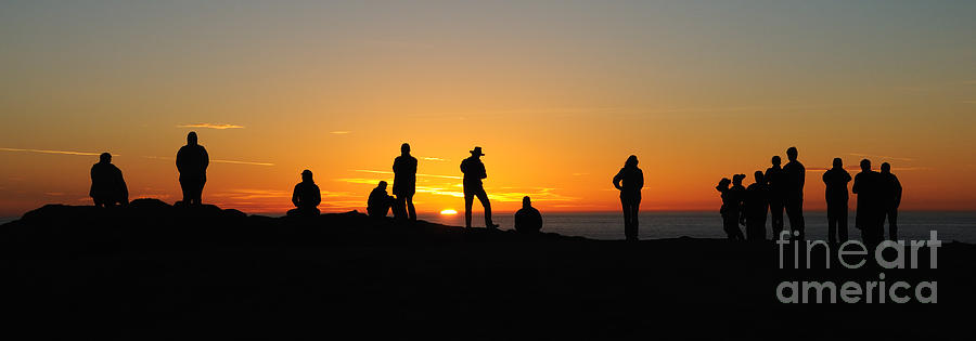 Sunset Photograph - Everyone Loves A Sunset Panorama by Vivian Christopher
