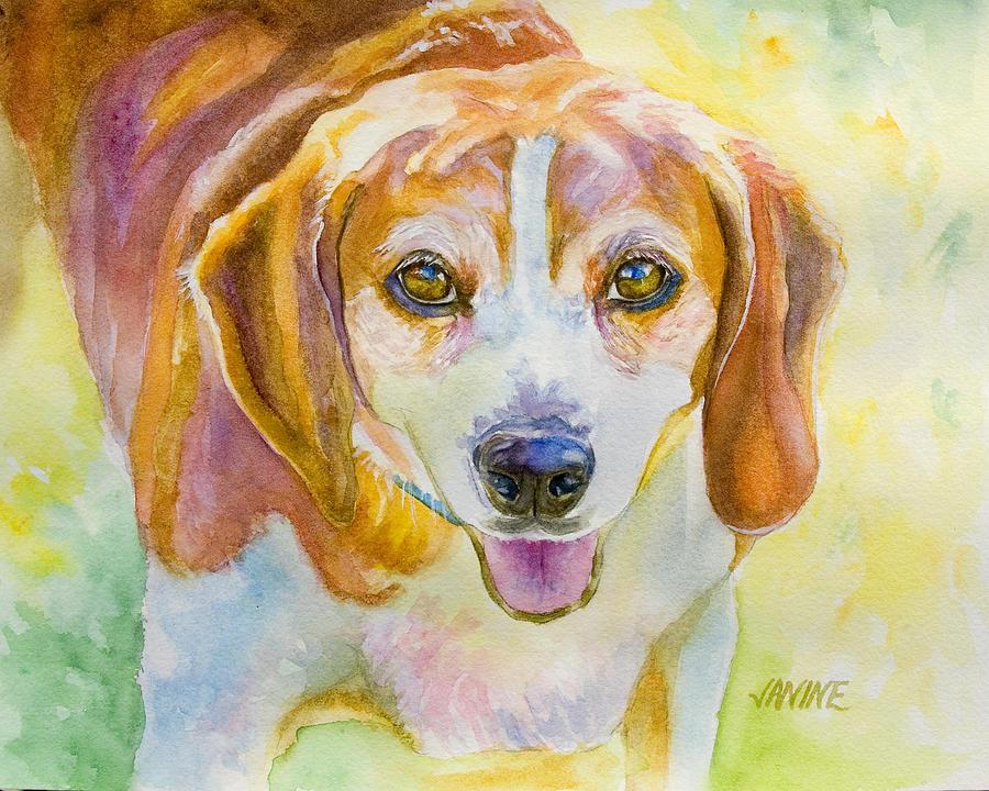 Beagle Painting - Everyones Favorite by Janine Hoefler