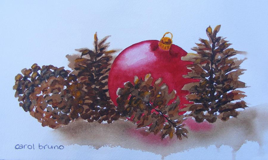 Christmas Painting - Everyones Welcome At Christmas by Carol Bruno
